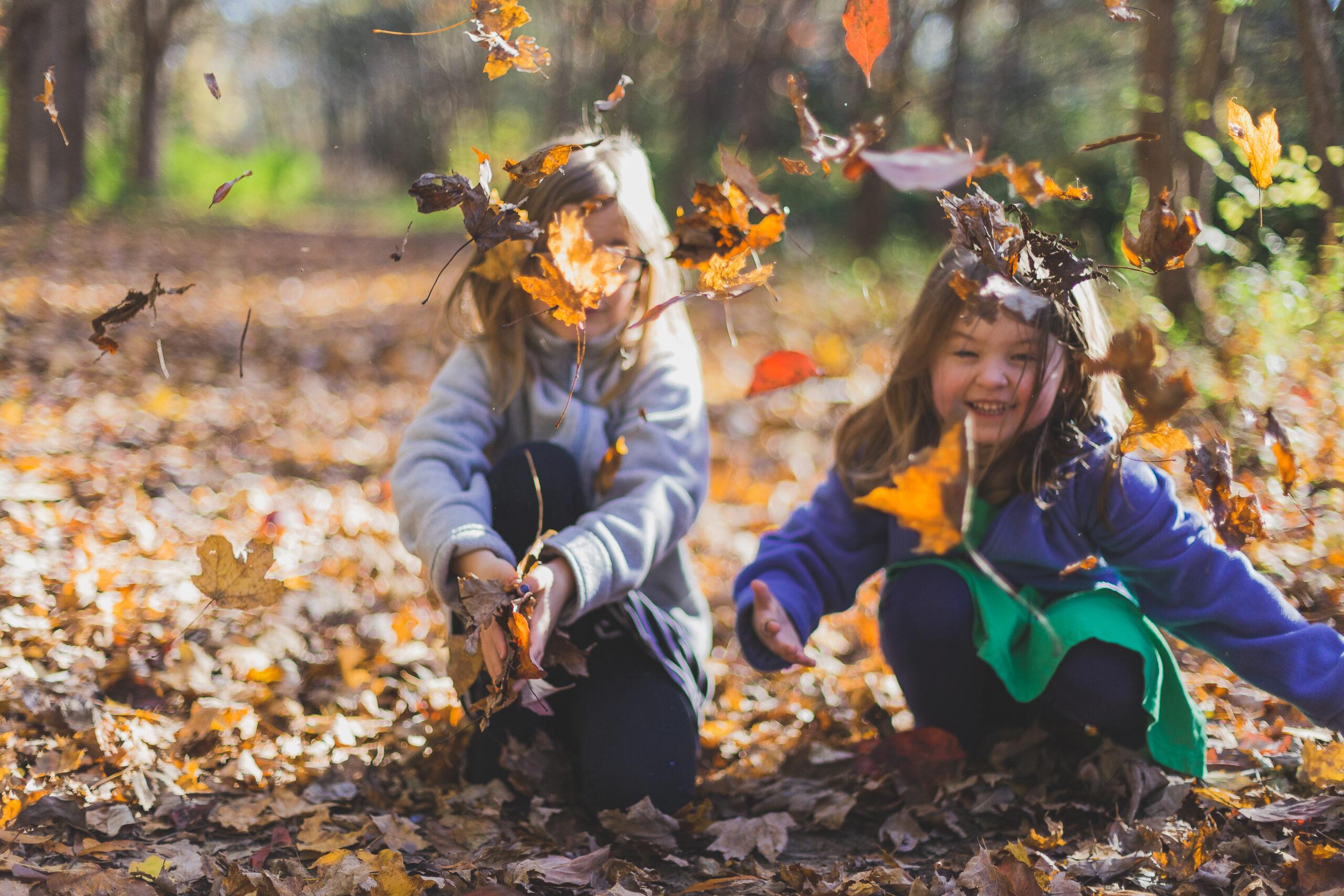 Kids playing nature